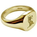 Cushion Shaped Family Crest Rings