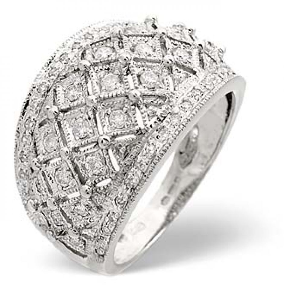 9ct 0.50ct White Gold Ladies Diamond Ring