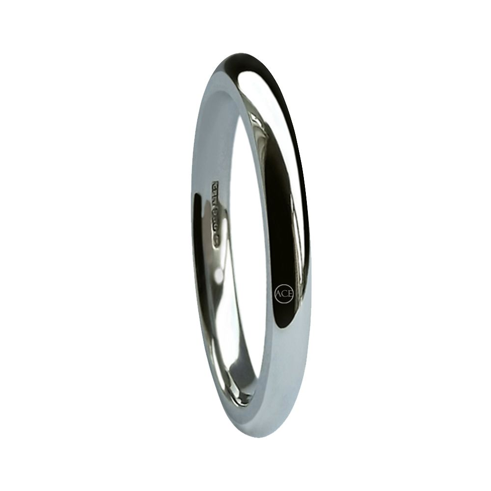 2mm 925 Sterling Silver Court Comfort Wedding Rings Bands