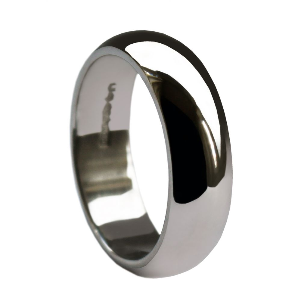 8mm 925 Sterling Silver Extra Heavy D Profile Wedding Rings Bands
