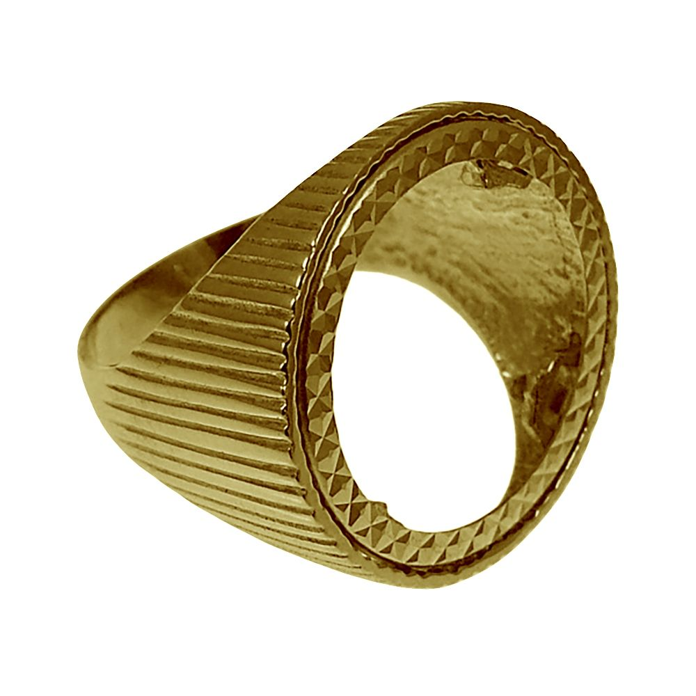 9ct Yellow Gold Full Sovereign Ring Mount