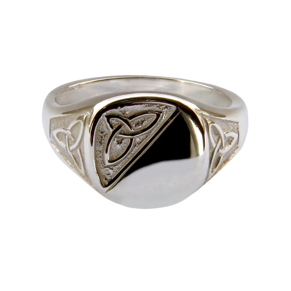 925 Sterling Silver Celtic Infinity Signet Rings 12 x 12mm 8.0g