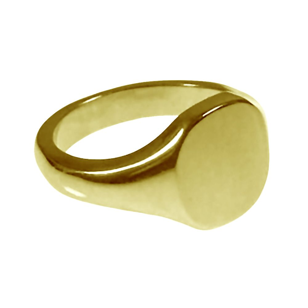 18ct Yellow Gold Cushion shaped Signet Rings 12 x 11mm 11.5g