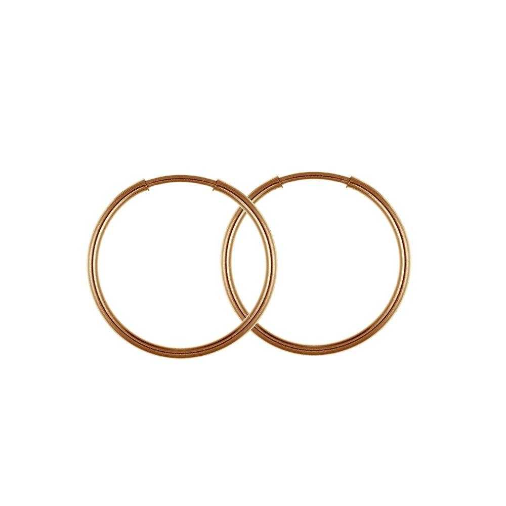 f3f3b1bd3 9ct Rose Gold Men's Or Ladies 15mm Pair Of Sleeper Hoop Earrings