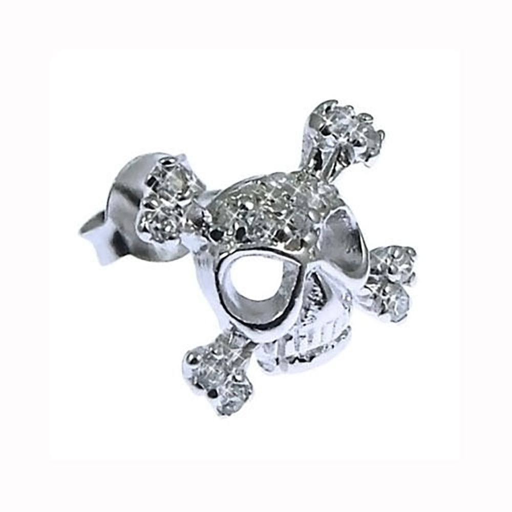 Men's 925 Sterling Silver And CZ Stud Earring