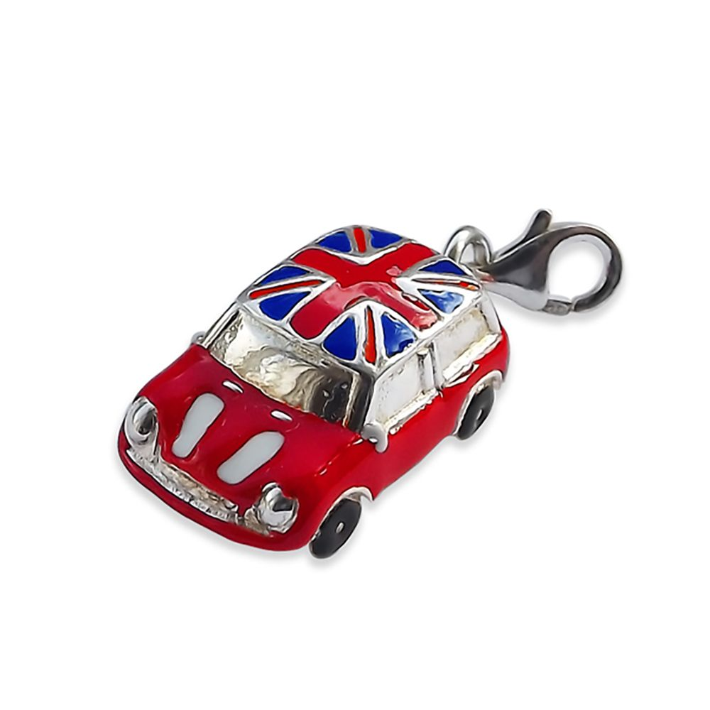 925 Sterling Silver & Enamel Mini Car Charm