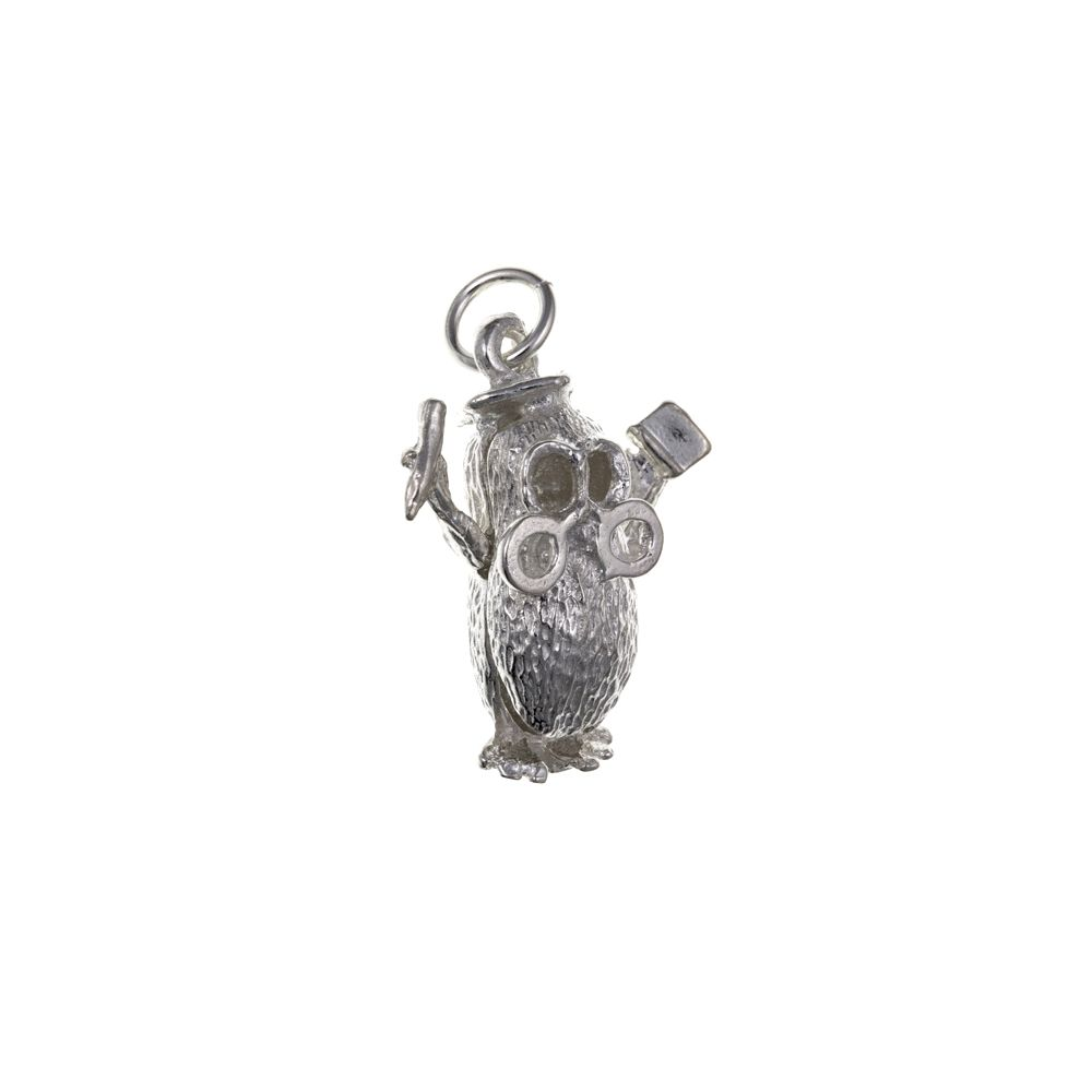 925 Sterling Silver Wise Old Owl Charm