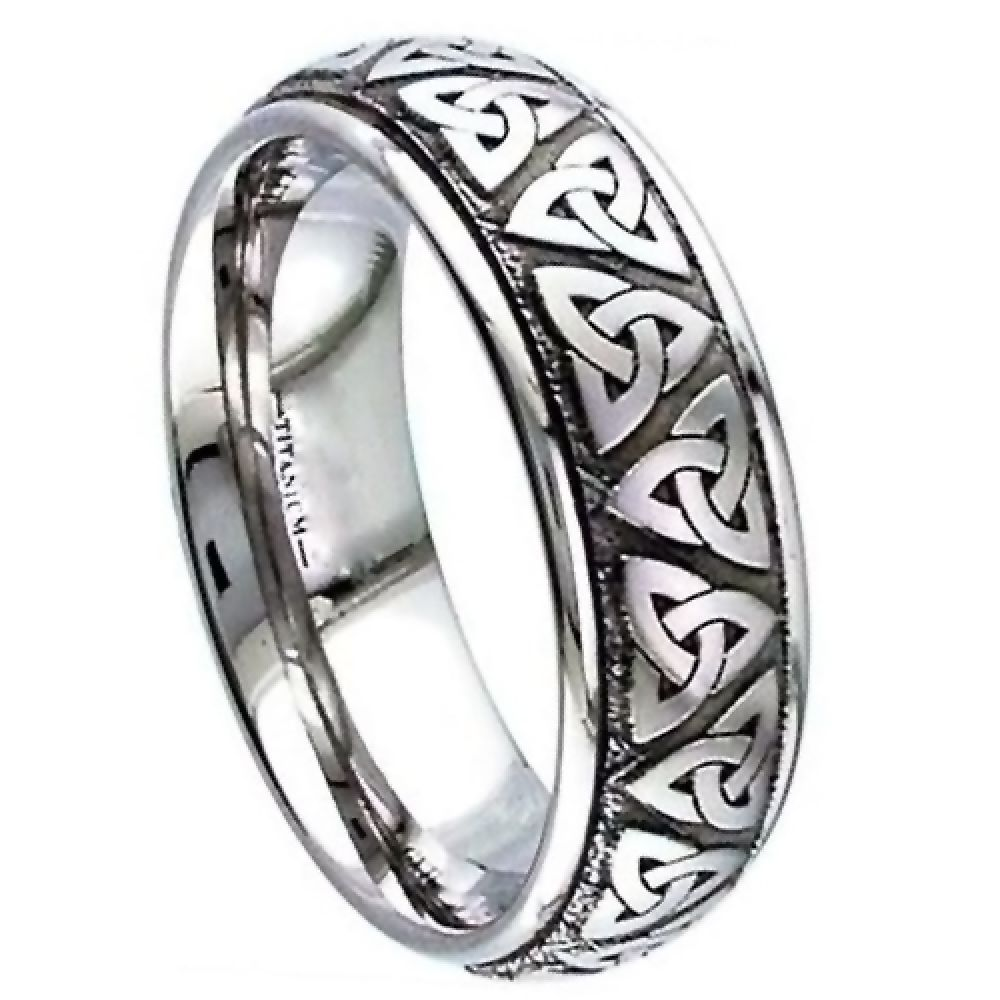 Titanium Celtic Court Comfort Wedding Ring
