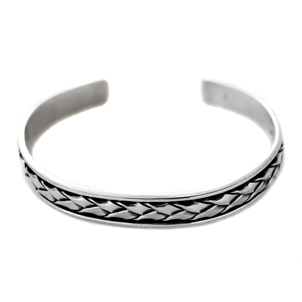 Unisex Heavy Genuine Mexican Solid Silver Torque Bracelet 925 UK Hallmarked
