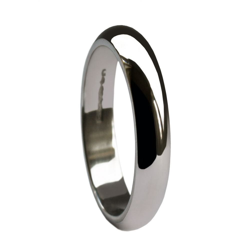 3mm 925 Sterling Silver Extra Heavy D Profile Wedding Rings Bands