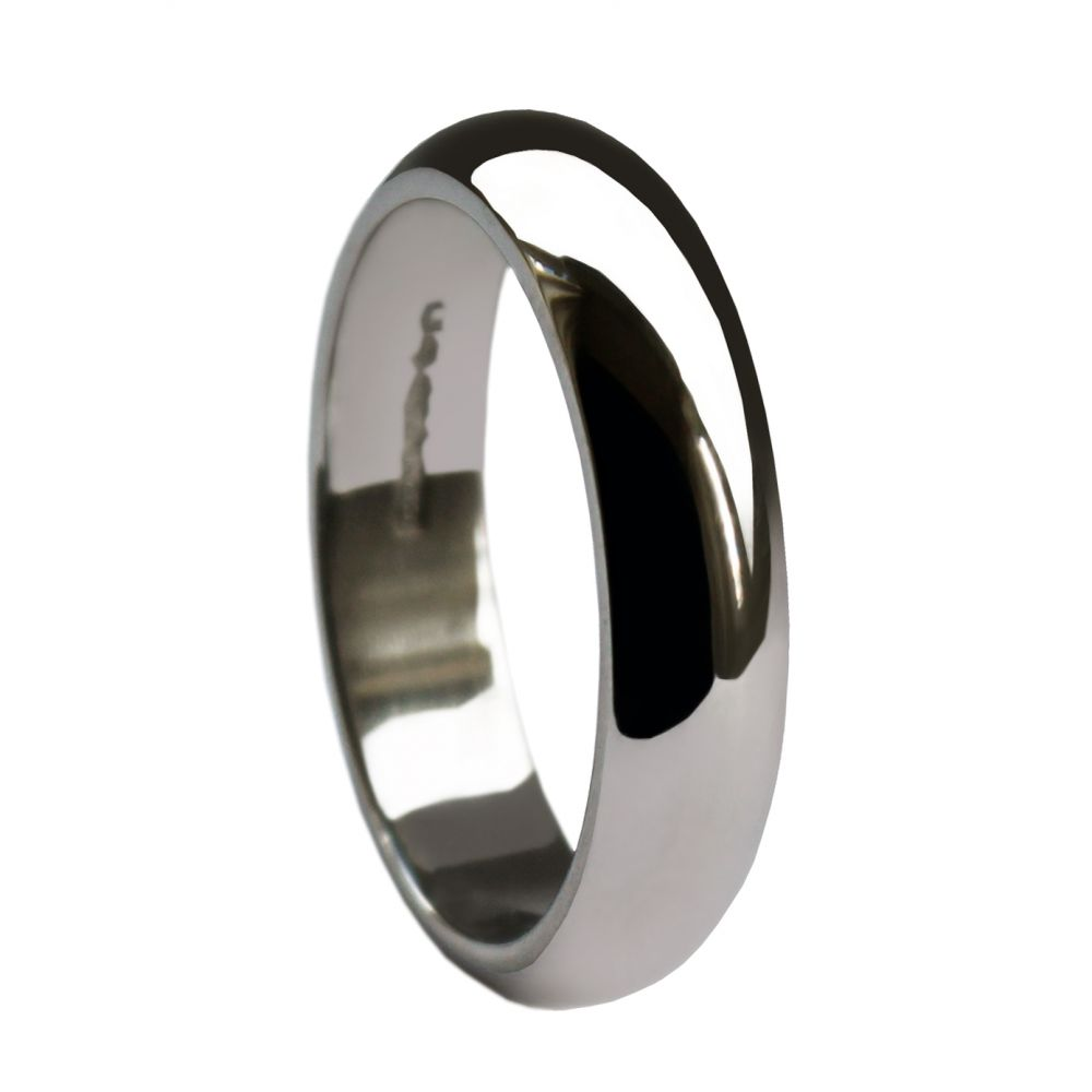 4mm 925 Sterling Silver Extra Heavy D Profile Wedding Rings Bands